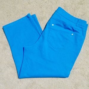 STYLE & CO. Blue Turquoise Denim Capris 12